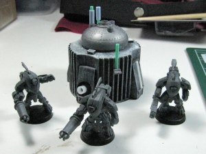 Tau Stealth Suits and a new(ish) piece of terrain