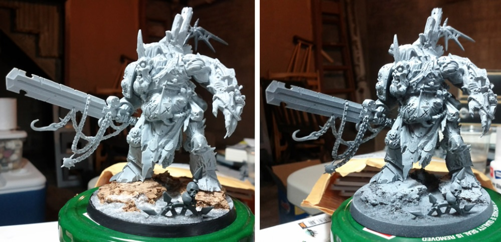 The Start of a Dreadnought and a Nurgle Daemon Prince (2/2)