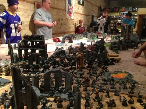 So many models, and you can kinda see the Titan off in the distance